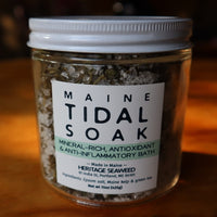 Maine Tidal Soak - Green Tea & Kelp Bath Salts by Heritage Seaweed (13oz)