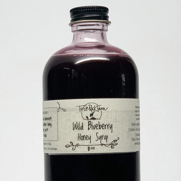 Wild Maine Blueberry Honey Syrup by Turtle Rock Farm