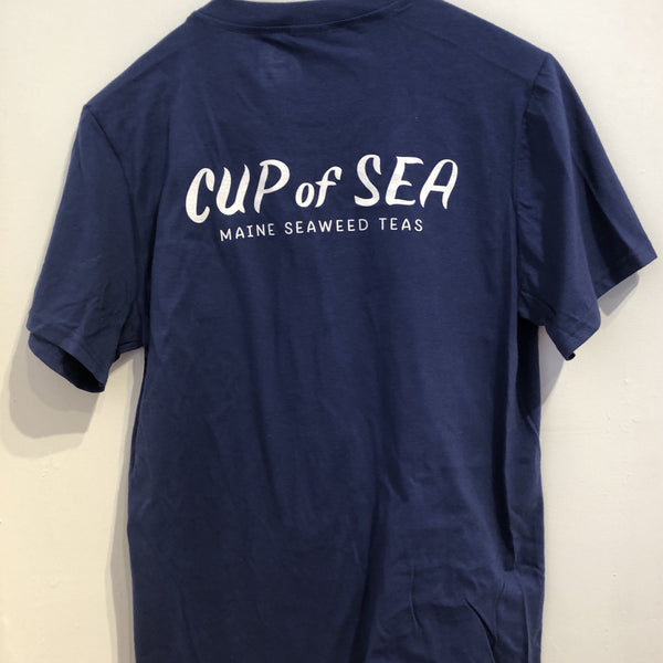 Cup of Sea Tee (blue unisex with old logo)