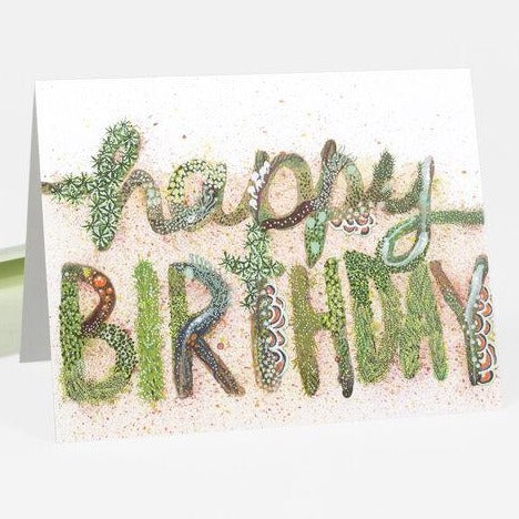 Happy Birthday Card: Moss and Lichen