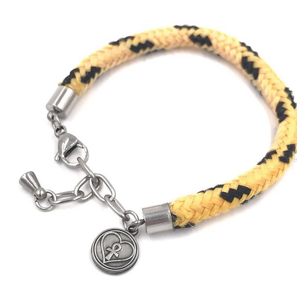 Madison Bracelet (Yellow with Black Tracers)