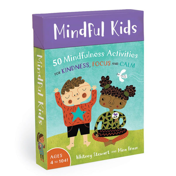 Mindful Kids card deck with 50 mindfulness activities for kindness, focus and calm