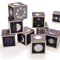Moon Phases wood blocks by Uncle Goose