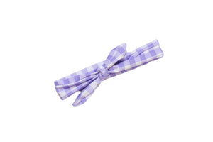Lavender Gingham Headwrap