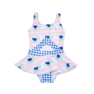 Blue Pearl Cottage One Piece Swimsuit