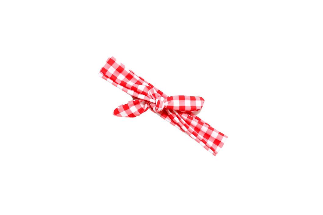 Red Check Headwrap WHOLESALE