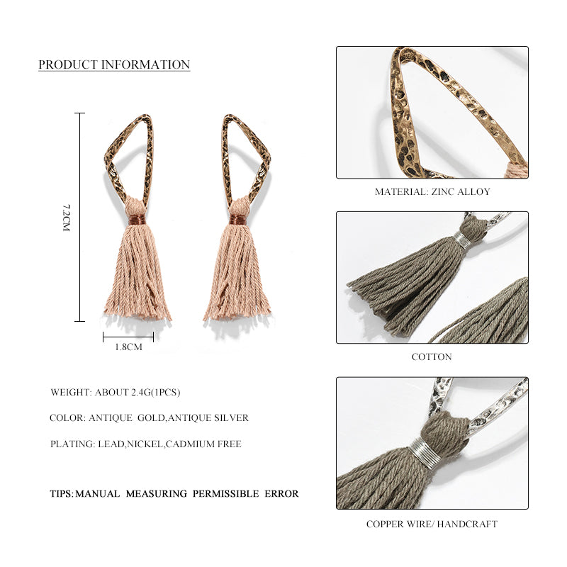 Bambalina Cotton Tassel Earrings