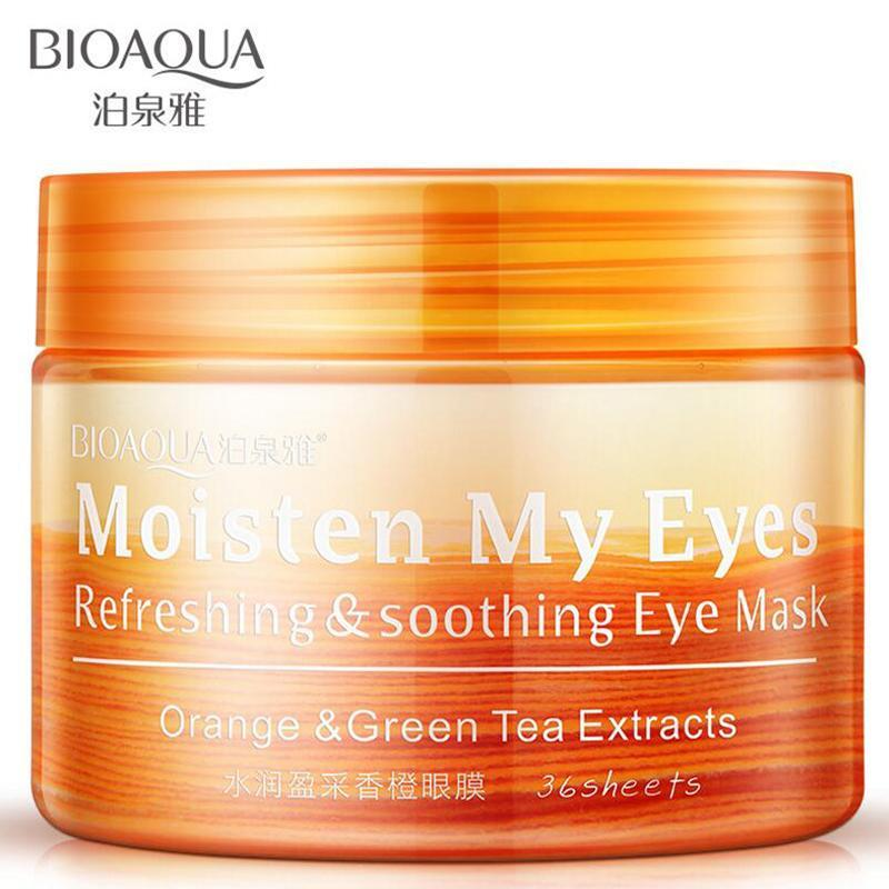 BIOAQUA Orange Moisturizing Eye Mask - 36 pcs/bottle