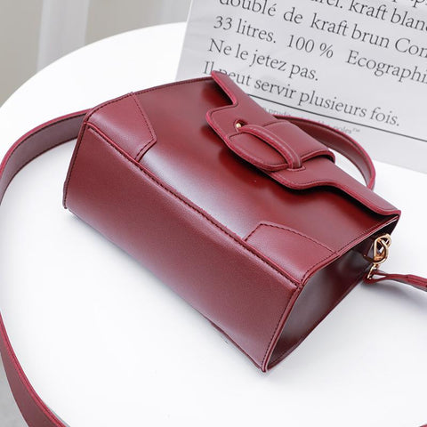 Image of Atarah Leather Flap Vintage Mini Handbag