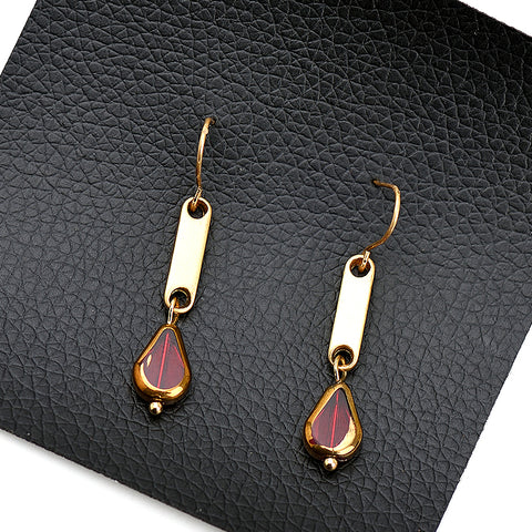 Image of Helan Geometric Shape Dangle Earrings