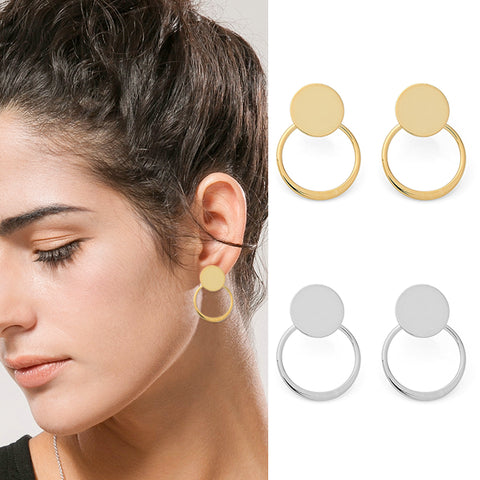 Angelique Round Stud Earrings