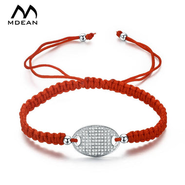 Women's white gold Color Bracelets fashion jewelry with red rope chain bracelet vintage fashion Accessories MSB027