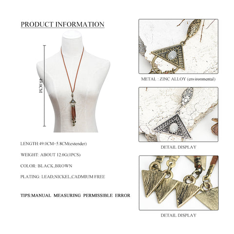 Dara Triangle Pendant Necklace