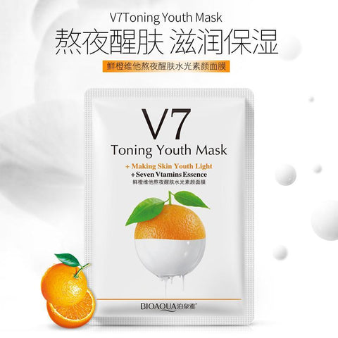 Image of 12Pcs BIOAQUA Toning Youth Facial Mask