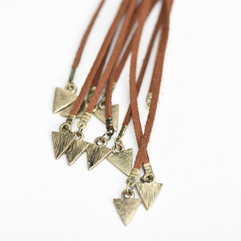Image of Dara Triangle Pendant Necklace