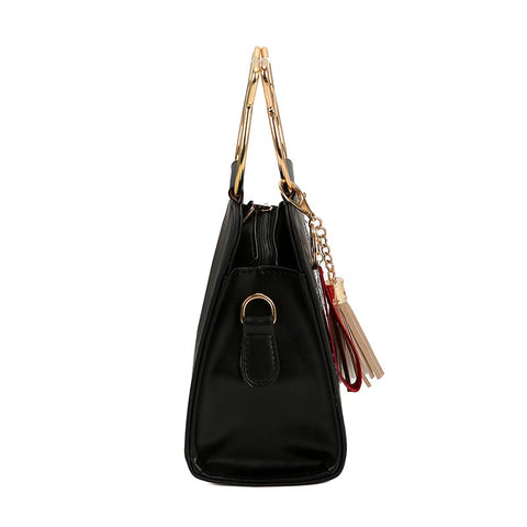Image of Vincentine Metal Handle  Shoulder Handbag