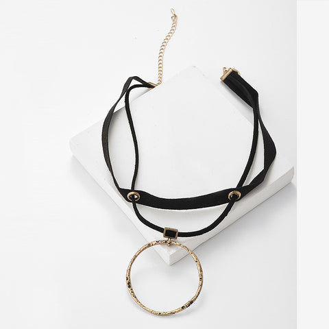 Image of Fanaka Rock Suede Collar Choker Necklace