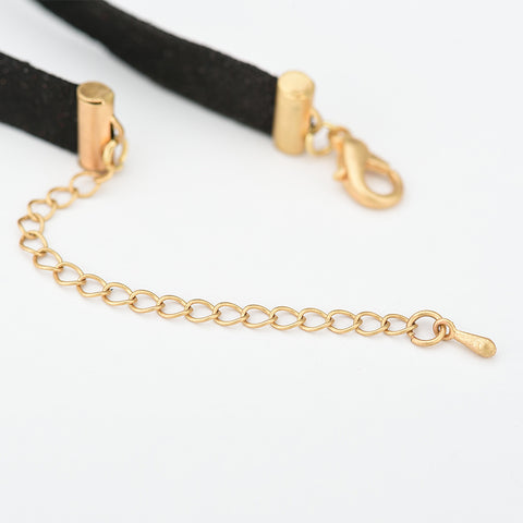 Charlotte Punk Black Suede Choker Necklace
