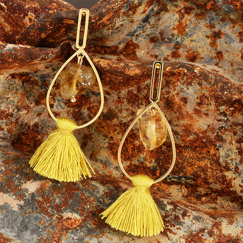 Ava Yellow Stone Earrings