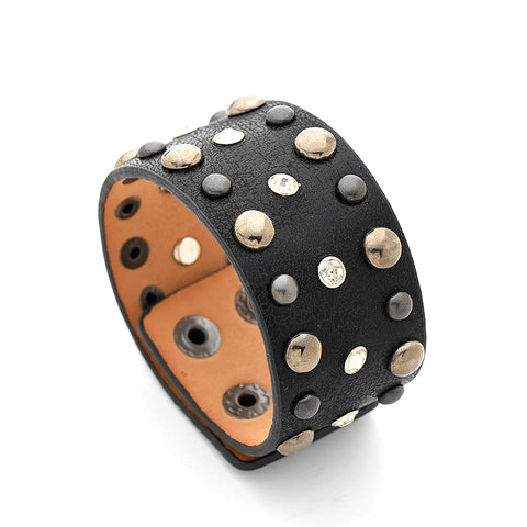 Image of Esperanza Wide PU Leather Bracelet