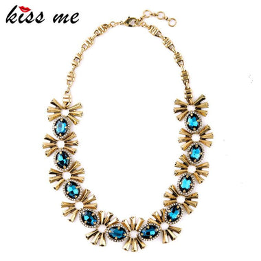 Unique Turkey Jewelry Super Deals Hot Alloy Pendant for Friends Blue Choker Necklace Factory Wholesale