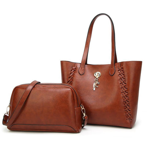 Image of Egypt 2 Set High-Quality Pu Leather Shoulder Handbag