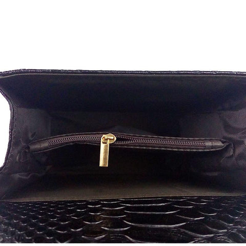 Image of Kimora Leather Messenger Handbag