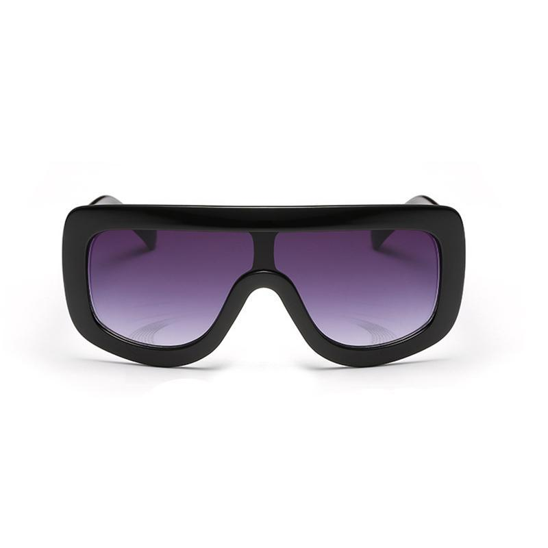 Don't Switch On Me Square Oversized Sunglasses
