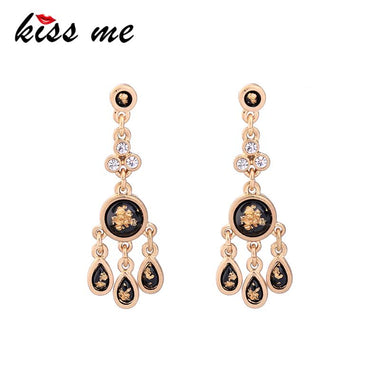 Personalized Alloy Resin Water Drop Dangle Earrings Trendy Vintage Earrings for Women Jewelry Gifts