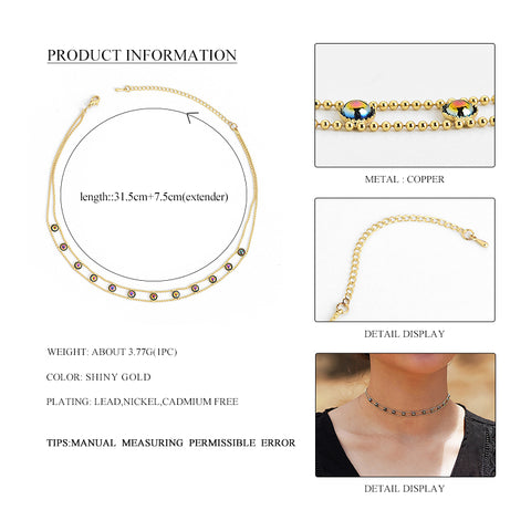 Image of Daisy Short Chain Choker Necklace