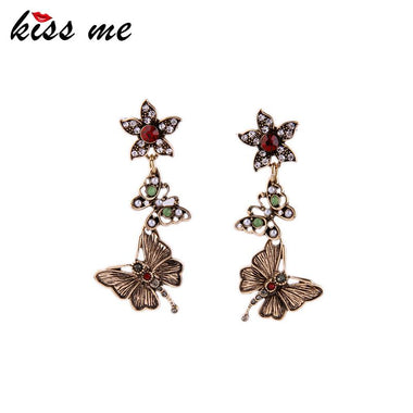 Dangling Butterfly Earrings for Women Now Trending Retro Accessories 2016 Women Earrings