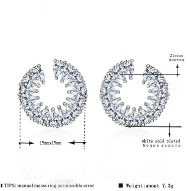 Women's White Gold Color Water Drop AAA Zircon Stud Earrings For Woman Elegant Jewelry Boucle D'oreille Brincos MSE069