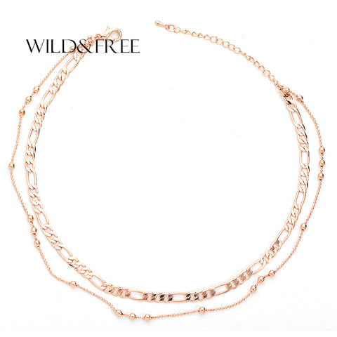 Naila Double Layer Chain Choker Necklace