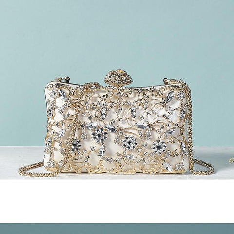 Image of Ariella Rhinestones Beading Embroidered Clutch