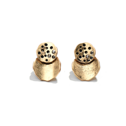 Image of Elvira Round Stud Earrings