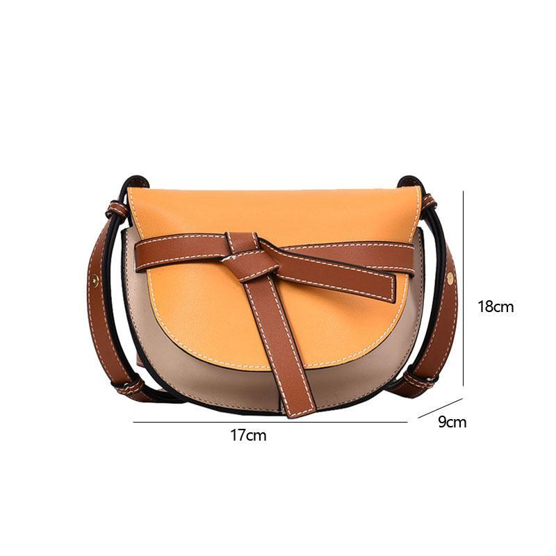 Meher Saddle Panelled Shoulder Bag
