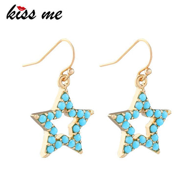 Cute Resin Star Pentagram Dangle Earrings Cute Fashion Zinc Alloy Party Earrings for Women Brand Jewelry