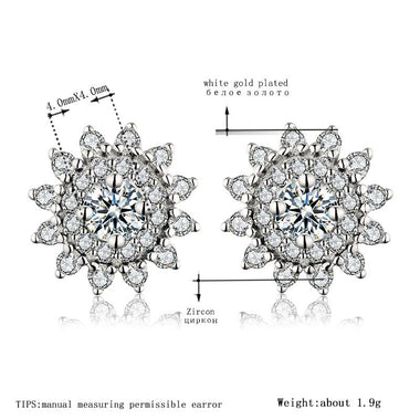 Women's Drop Earrings Fashion White Gold Color Pendientes Jewelry for Women Vintage Wedding Earrings Wholesale New Arrived A314