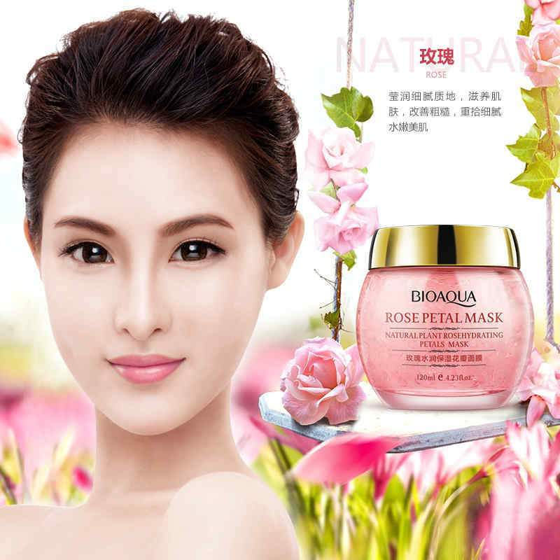 BIOAQUA No Wash Rose Petal Sleeping Mask Cream
