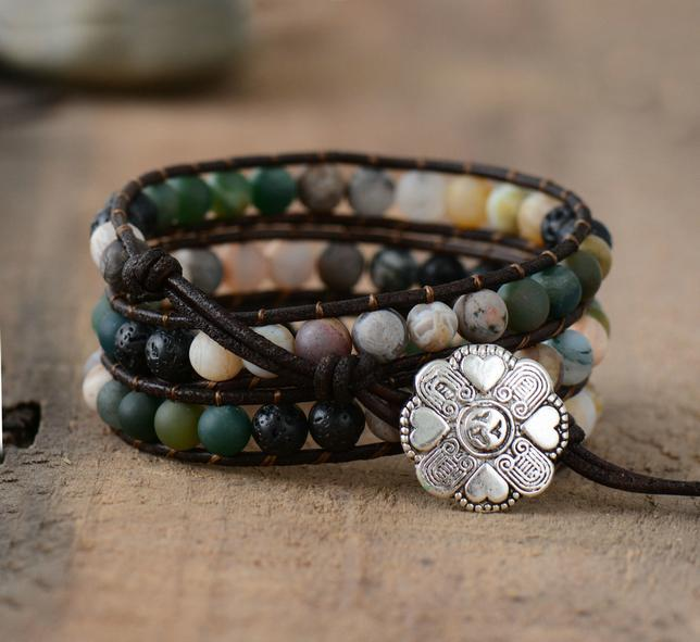 Ayeleth Multilayer Boho Leather Bracelet