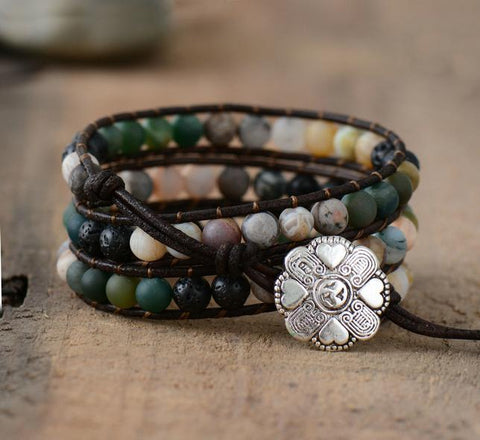 Image of Ayeleth Multilayer Boho Leather Bracelet