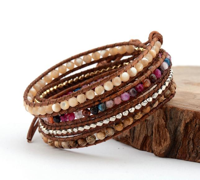 Derora 5 Layers Leather Bracelet