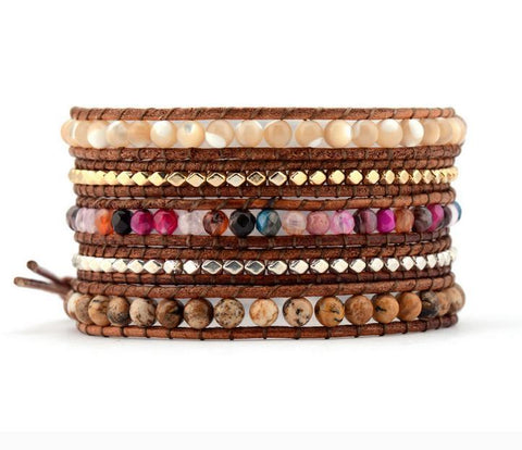 Image of Derora 5 Layers Leather Bracelet