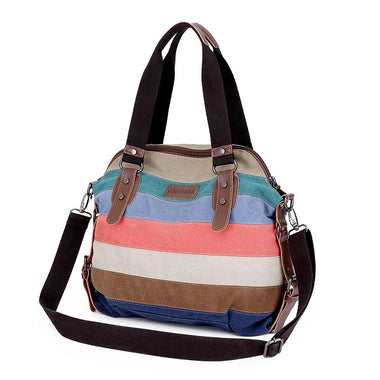 Modeste Colorful Canvas Large Capacity Handbag