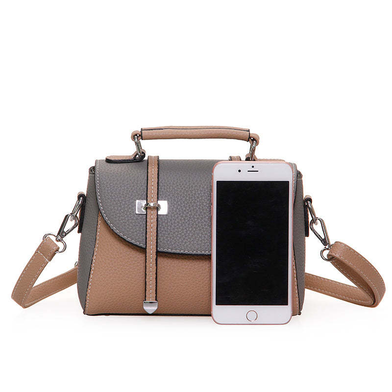 Anda Patchwork PU Leather Handbag