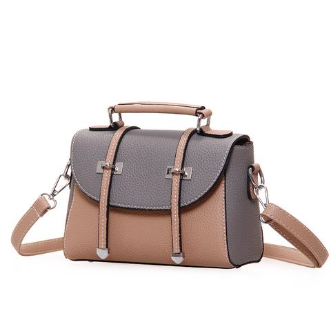Image of Anda Patchwork PU Leather Handbag