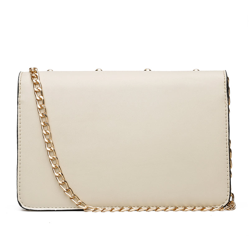 Gabie Pearl Leather Crossbody Handbag