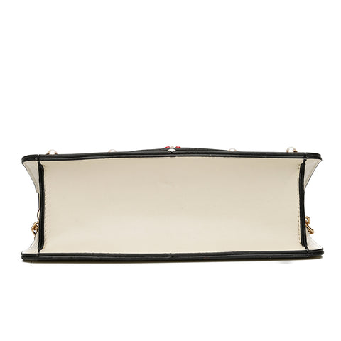 Image of Gabie Pearl Leather Crossbody Handbag