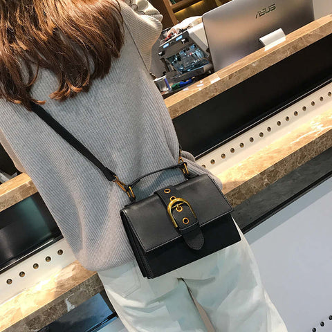 Geromine Metal Lock Crossbody Handbag