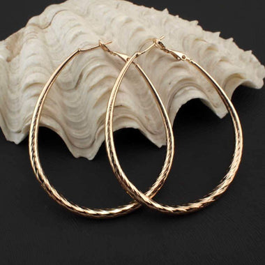 Xiana Faceted Alloy Hoop Earrings